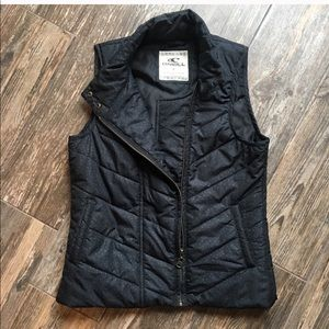 O'Neill black dotted puffer vest